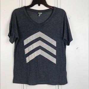 4/$20 Vanity Sparkly Studded Short Sleeve Shirt